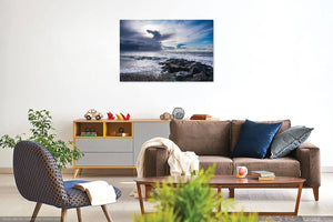 'Dragon Clouds and Stormy Seas' Canvas Print