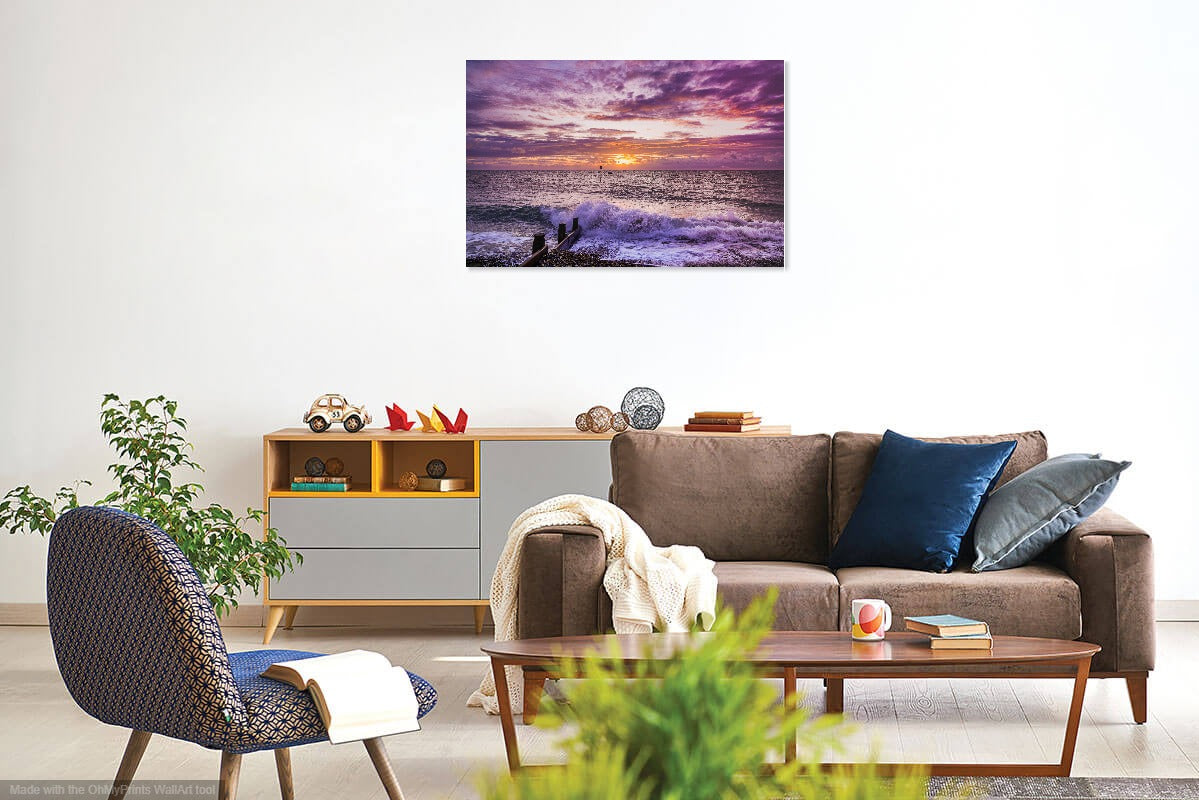 'Purple Dawn Revisited' Canvas Print