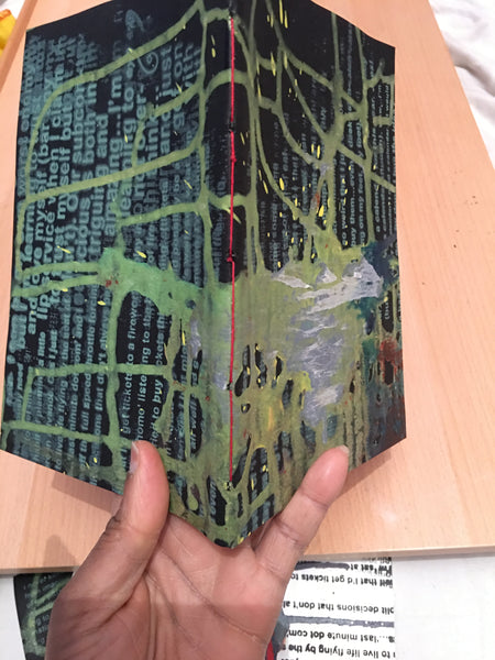 Mixed media cover journal.  A5. Black