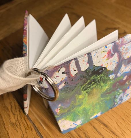 Concertina journal with key ring