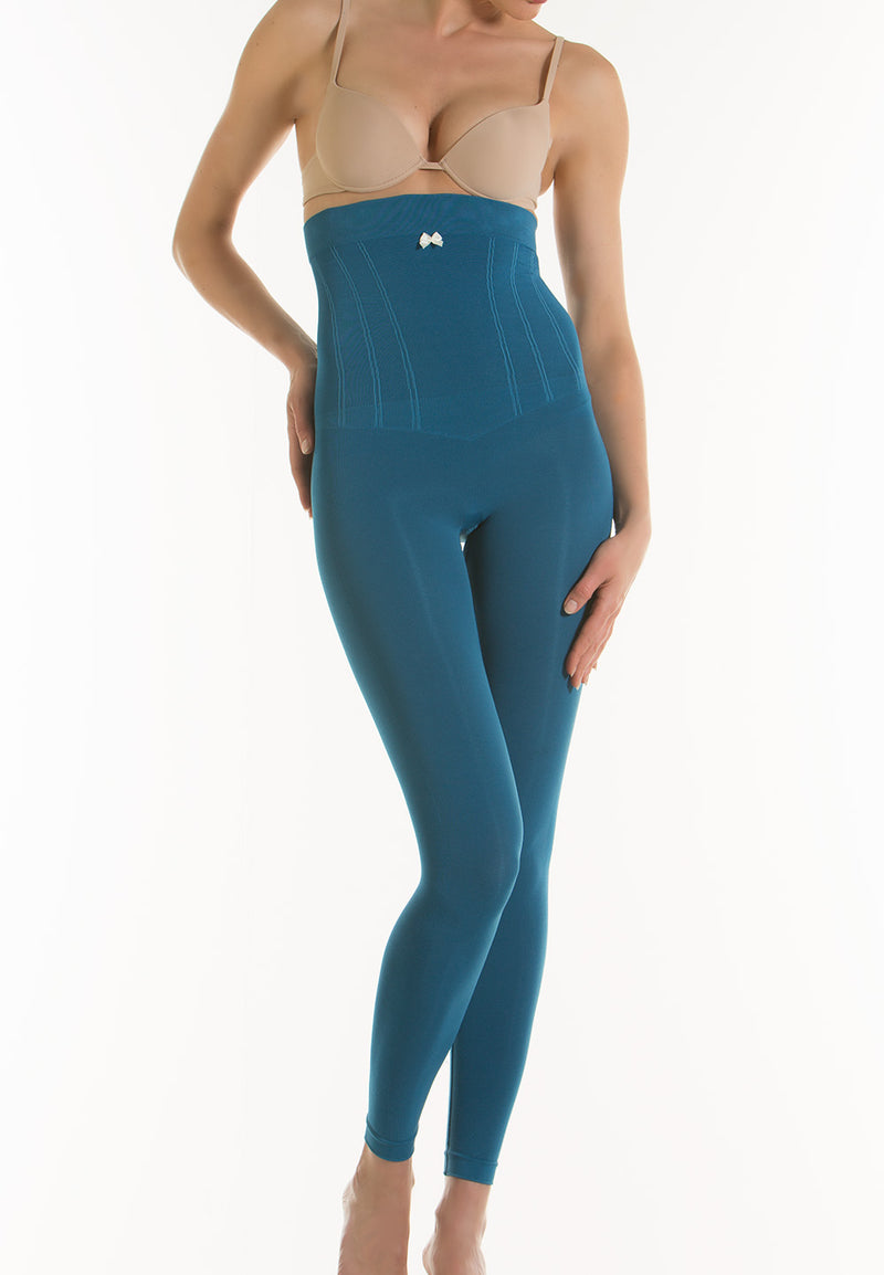 ATOM GOLD High-Waisted Push-Up Control and Moisturizing Leggings