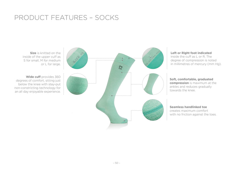 Compression Lanati Milk Fiber Classic Socks