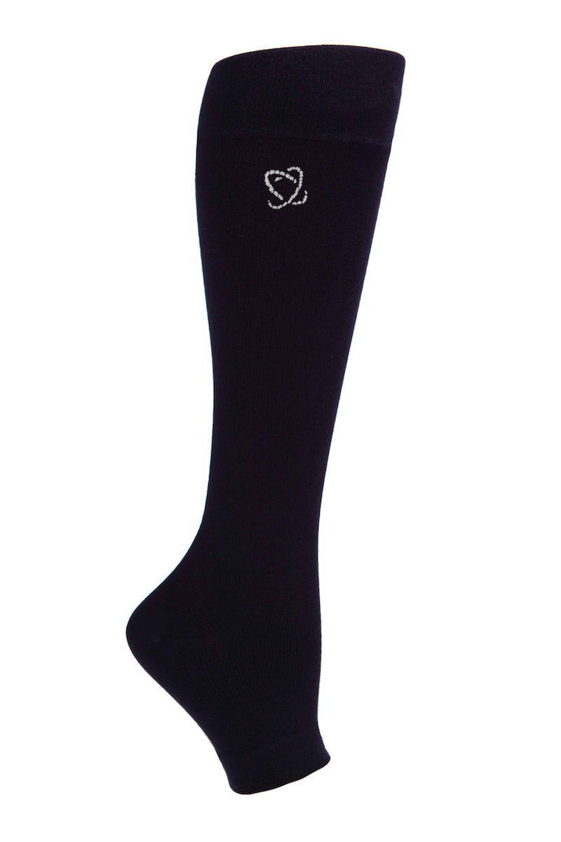 Compression Lanati Milk Fiber Open Toe Socks