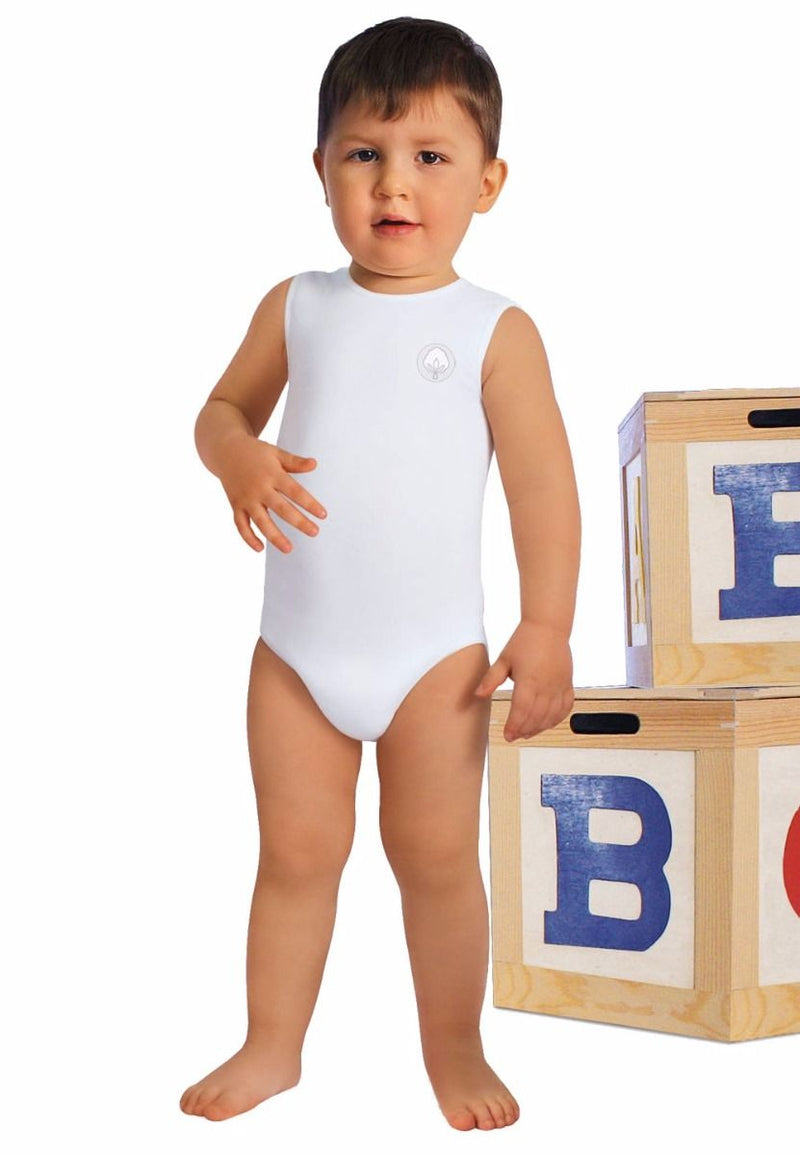 Toddler and Baby Cotton Sleeveless Bodysuit