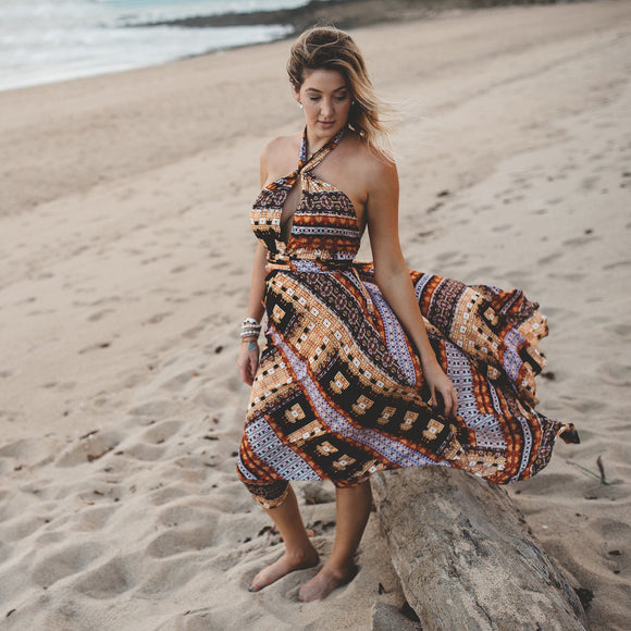 Backless Tribal Summer Maxi