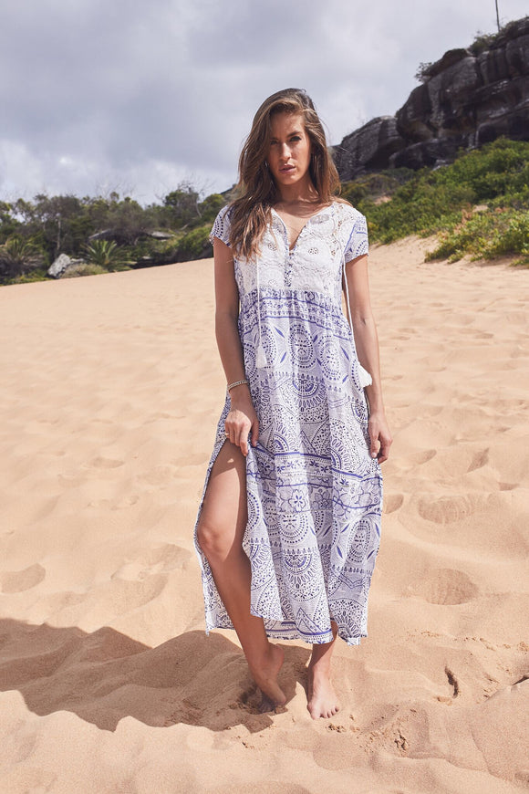 Relaxed Fit Dress with Crochet detail