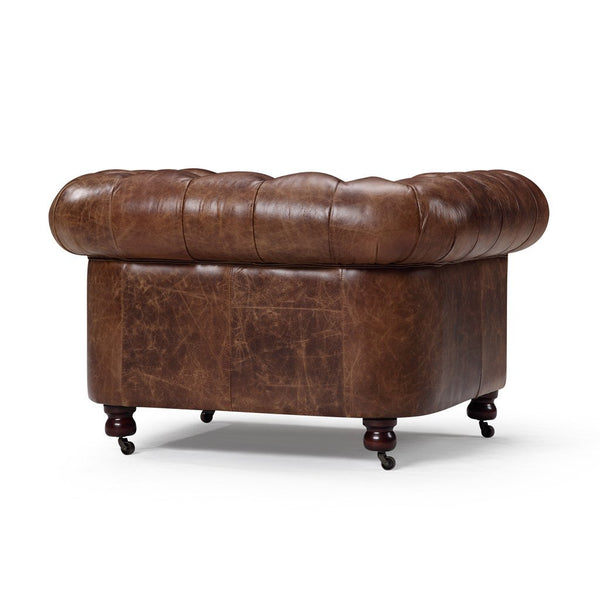 Kensington Chesterfield Leather Chair - Kent & Ross