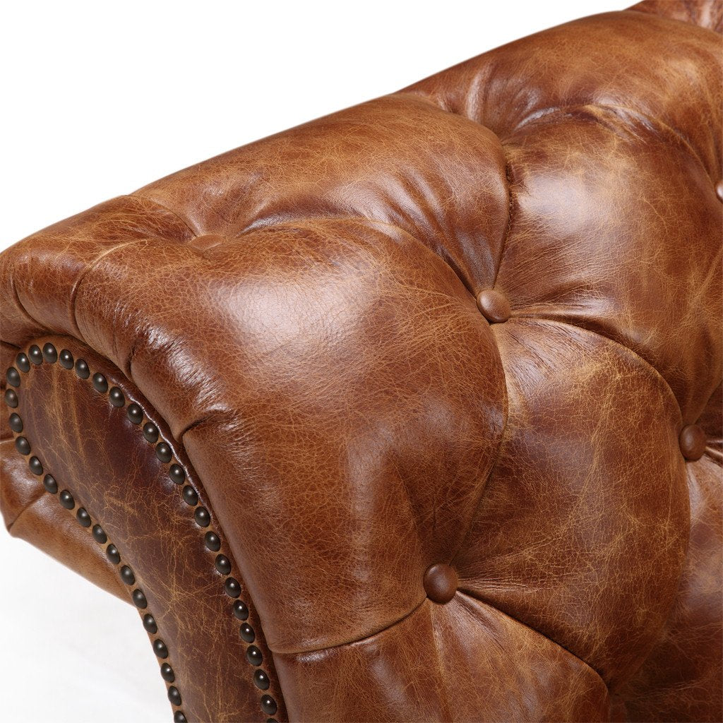 e269f9fda432 ... Westminster Chesterfield Leather Loveseat - Kent   ...