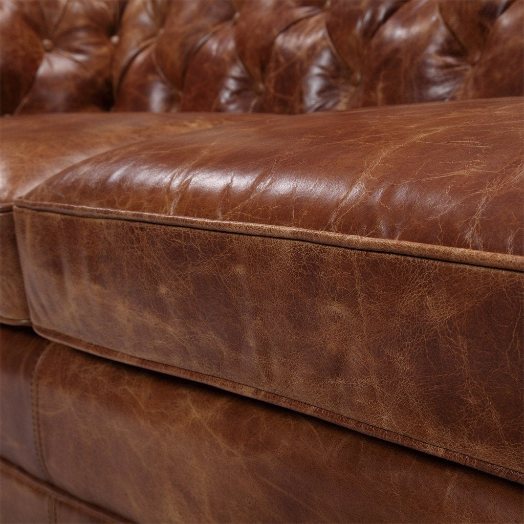 5199e207acf2 ... Westminster Chesterfield Leather Loveseat - Kent   Ross