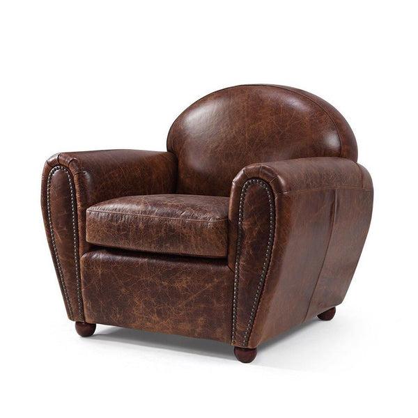 Classic Leather Club Chair - Kent & Ross