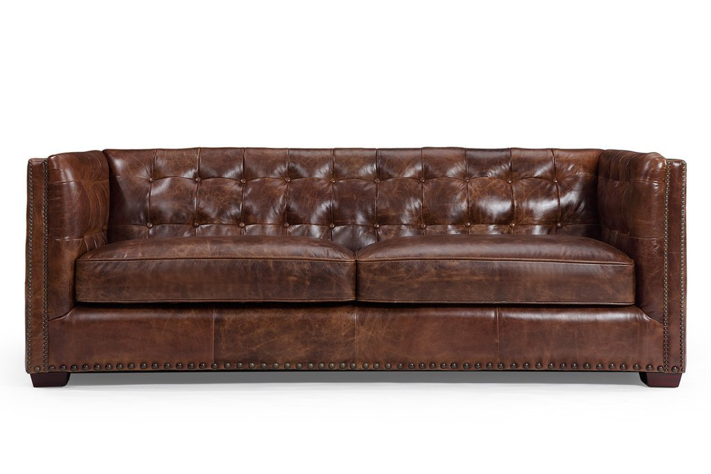 The Brighton English Leather Sofa - Kent & Ross