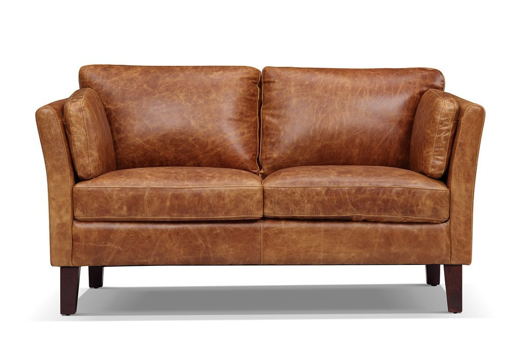 The Vintage 1960 Scandinavian Leather Loveseat - Kent & Ross