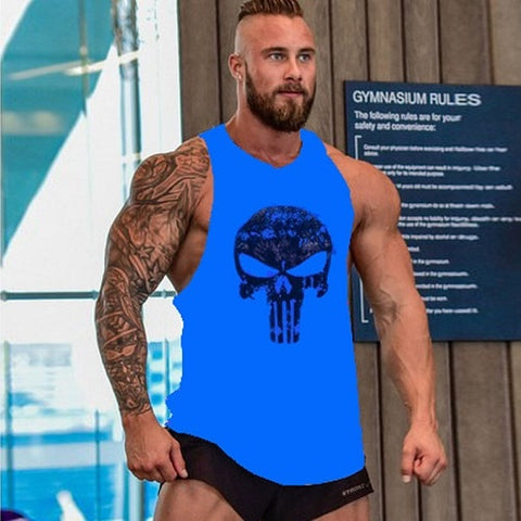 Men Vests Cotton Singlets Muscle Top