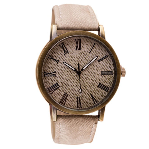watch men 9 Colors retro men watches numerals Faux Leather Quartz Casual men clock watch montre homme relogio masculino gift#A