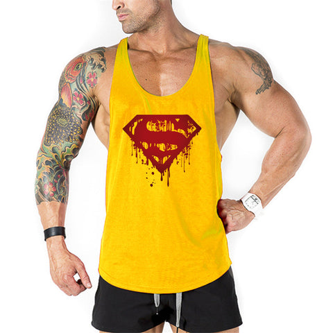 Super Hero Captain America brand clothing Singlets Mens Tank Top Muscle Shirt Superman Stringer Bodybuilding Fitness mens Vest