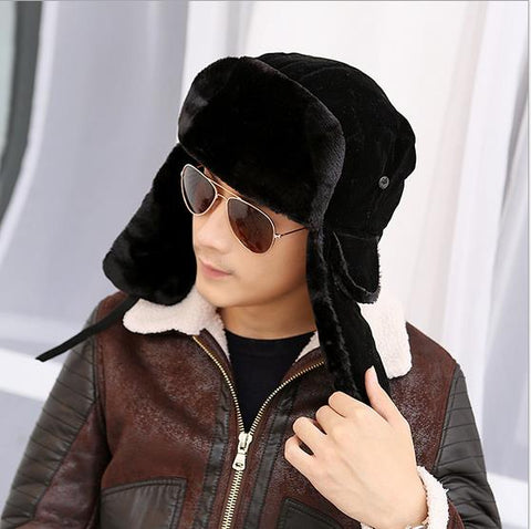 2018 high quality winter Warm Proof Trapper Hat Men aviator hat,Russian Hat sport outdoor ear flaps bomber caps Chapeu morno - Big Deal Cartel