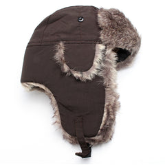 Winter Warm Ushanka Hat Bomber Earflap Men Women Thicken Balaclava Cotton Hats Sombrero Hutting Caps Ear Warmer Russian Fur Hats