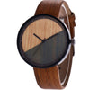 Image of Quartz  Watches Wood Grain  Creative   Watches Men  Sport Leather Strap  Military Wrist  Montre Homme  Watch Clock  18MAY18