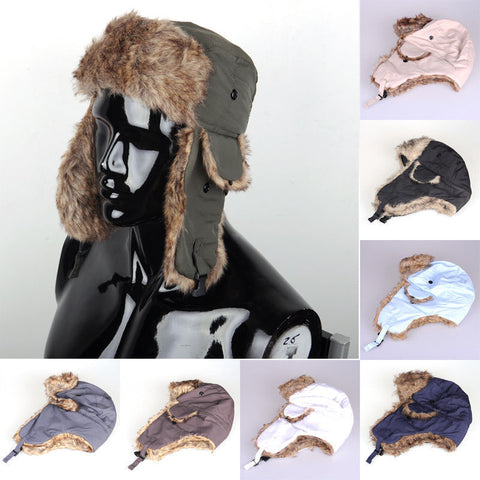 2018 Brand New Unisex Trapper Bomber Warm Russian Trooper  EAR FLAPS Winter Ski Hat Men Women Cap New Bomber Hats - Big Deal Cartel