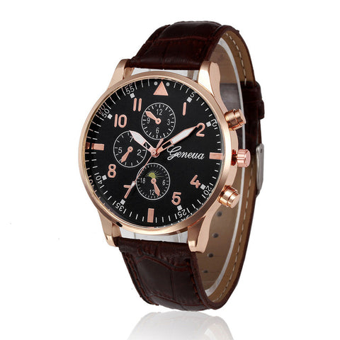 Retro Design Leather Band Analog Quartz Wrist Watch Mens Watches Top Brand Luxury Digital Relogio Masculino Business Clock Saat