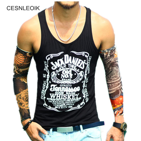 Cotton Big Size Loose Men Tank Top