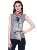 Fayon Trendy Butterfly Print Soft Pashmina Wool Shawl, Scarves, Stoles, Wraps For Women & Girls