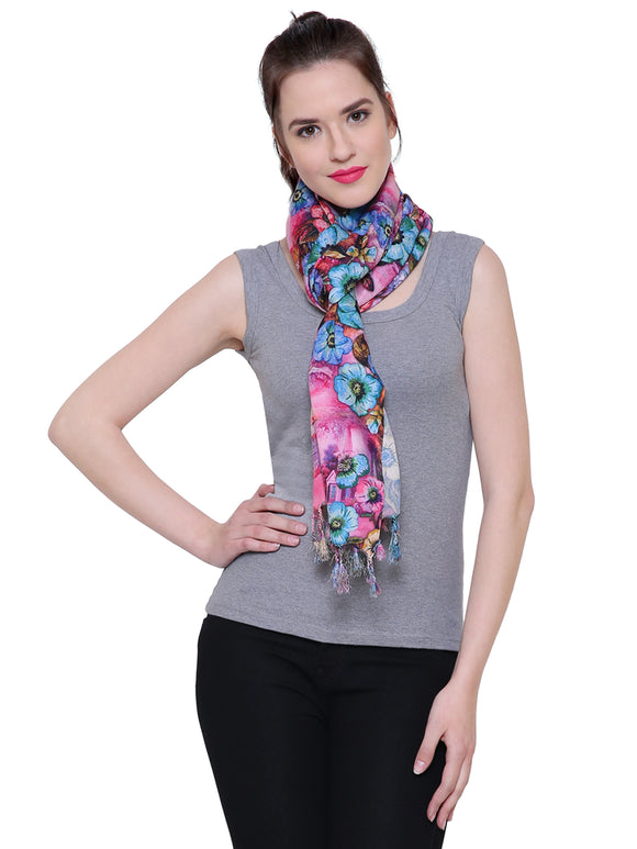 Fayon Exquisite Flower Pattern Soft Pashmina Shawls, Scarves, Stoles, Wraps For Women & Girls