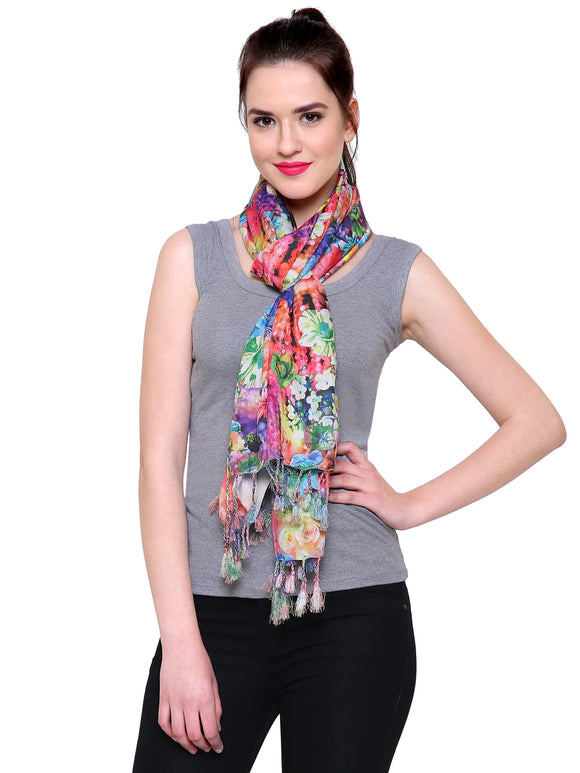 Fayon  Fashion Spring Floral Design Printed Soft Pashmina Scarves, Stoles, Wraps For Women & Girls