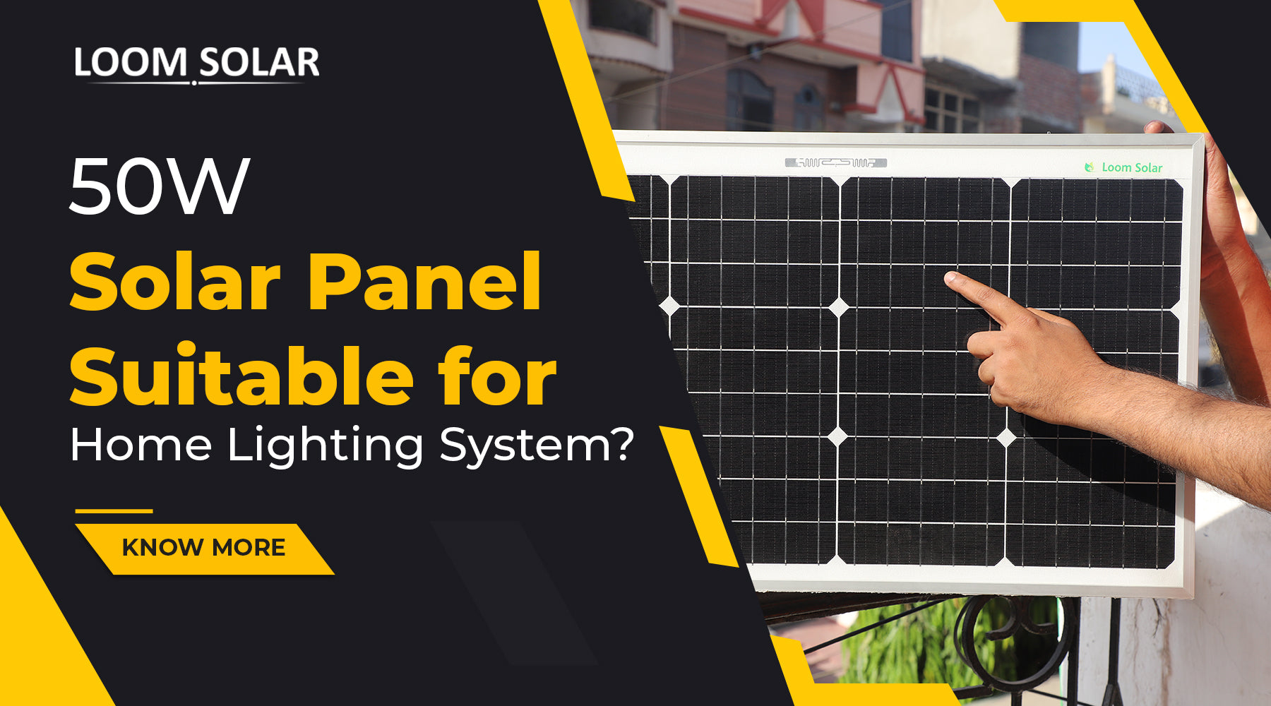 Is 50W Solar Panel Suitable for Home Lighting System?