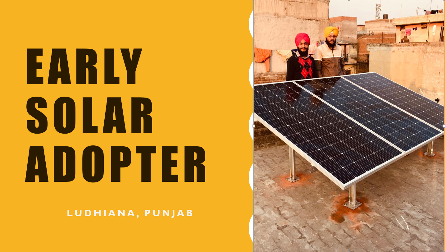 1kW Off-Grid Solar Power Installation in Ludhiana, Punjab