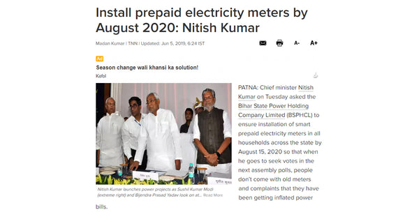 Install prepaid electricity meters by august 2020