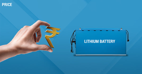 price of lithium battery