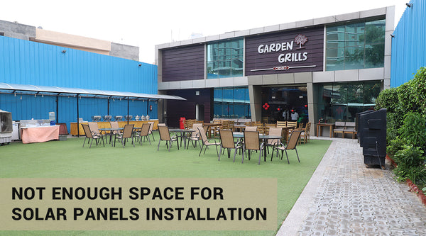 solar panel installation space problems in commerical space