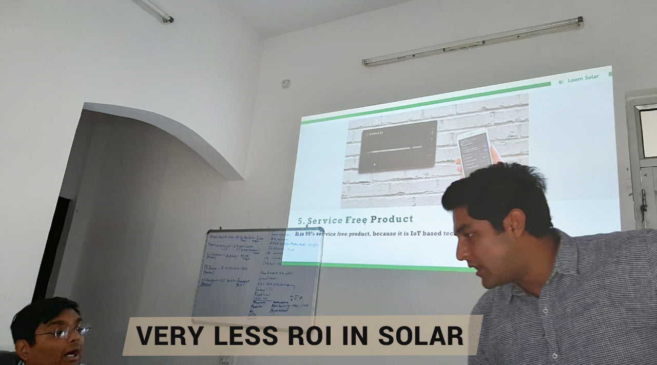 return on investment is not meeting in solar