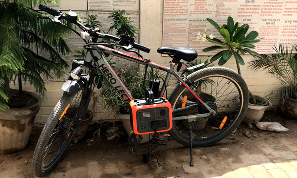 solar generator for electric cycle charging