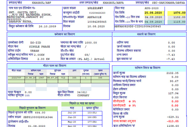 electricity rate in bihar