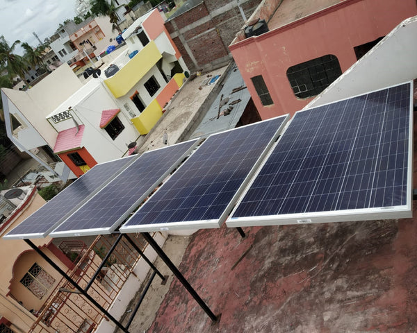 1 kw Off grid solar panel installation in india