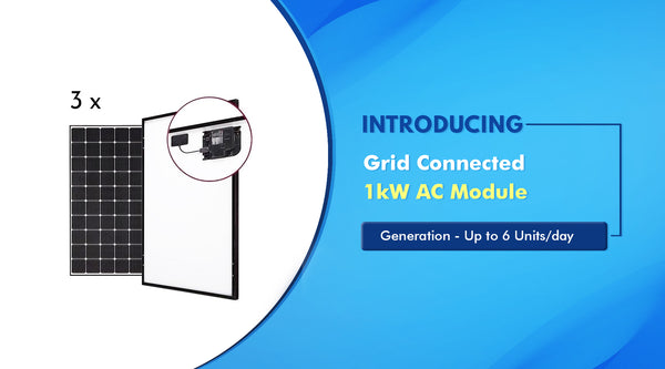 1kW Grid Connected AC Module Price in India