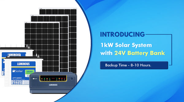 1kw solar system price in india