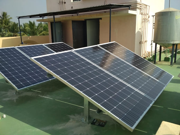 5KW Solar solution in hospital, Karnataka