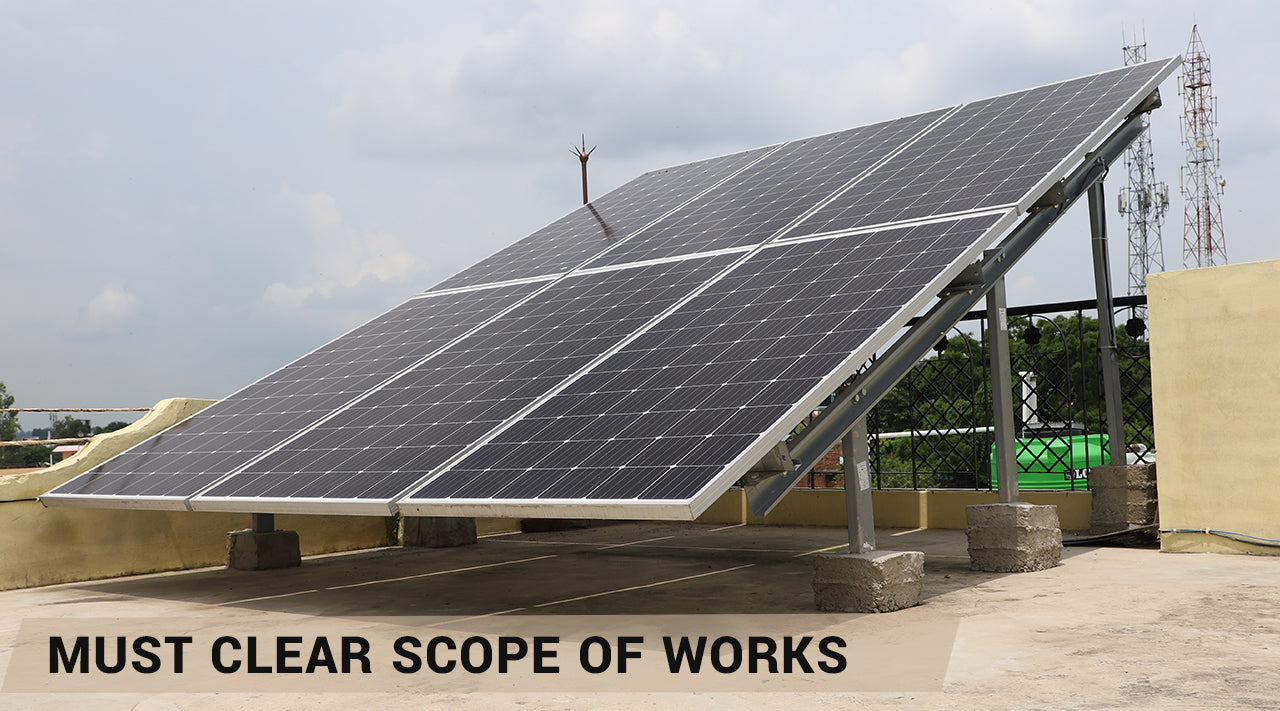 scope of work in solar installations