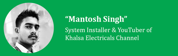 mantosh singh of khalsa electricals