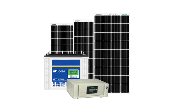 solar inverter with solar panel and battery