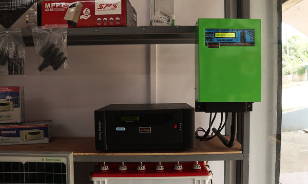inverter battery with charge controller