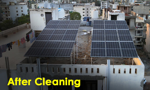 solar panel performance after cleaning