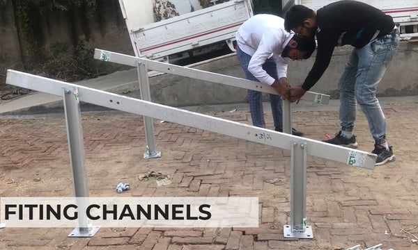 fitting channels with panel legs