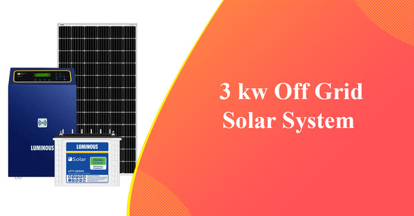 3kw off grid solar system price in india