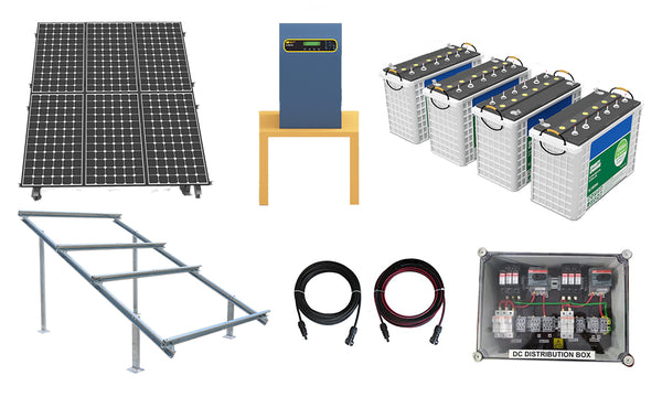 components of 7kw solar system