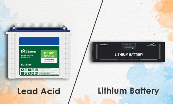 lead acid and lithium battery