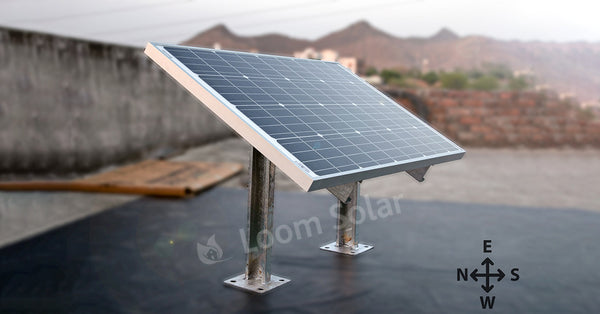 solar panel installation with stand
